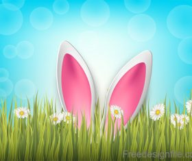 Halation background with easter design vector 01