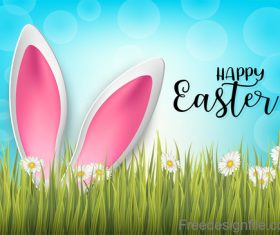 Halation background with easter design vector 02