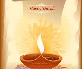 Happy Diwali parchment background vector