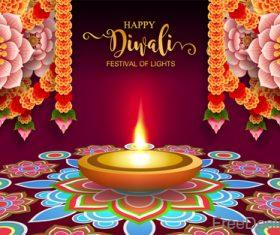 Happy diwali festival of night vector design 01