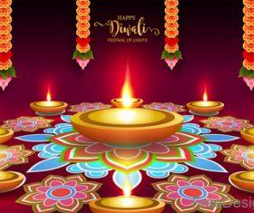 Happy diwali festival of night vector design 02