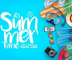 Happy summer holiday travel design vector 01