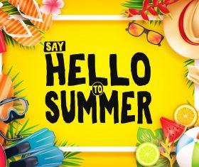 Happy summer holiday travel design vector 02