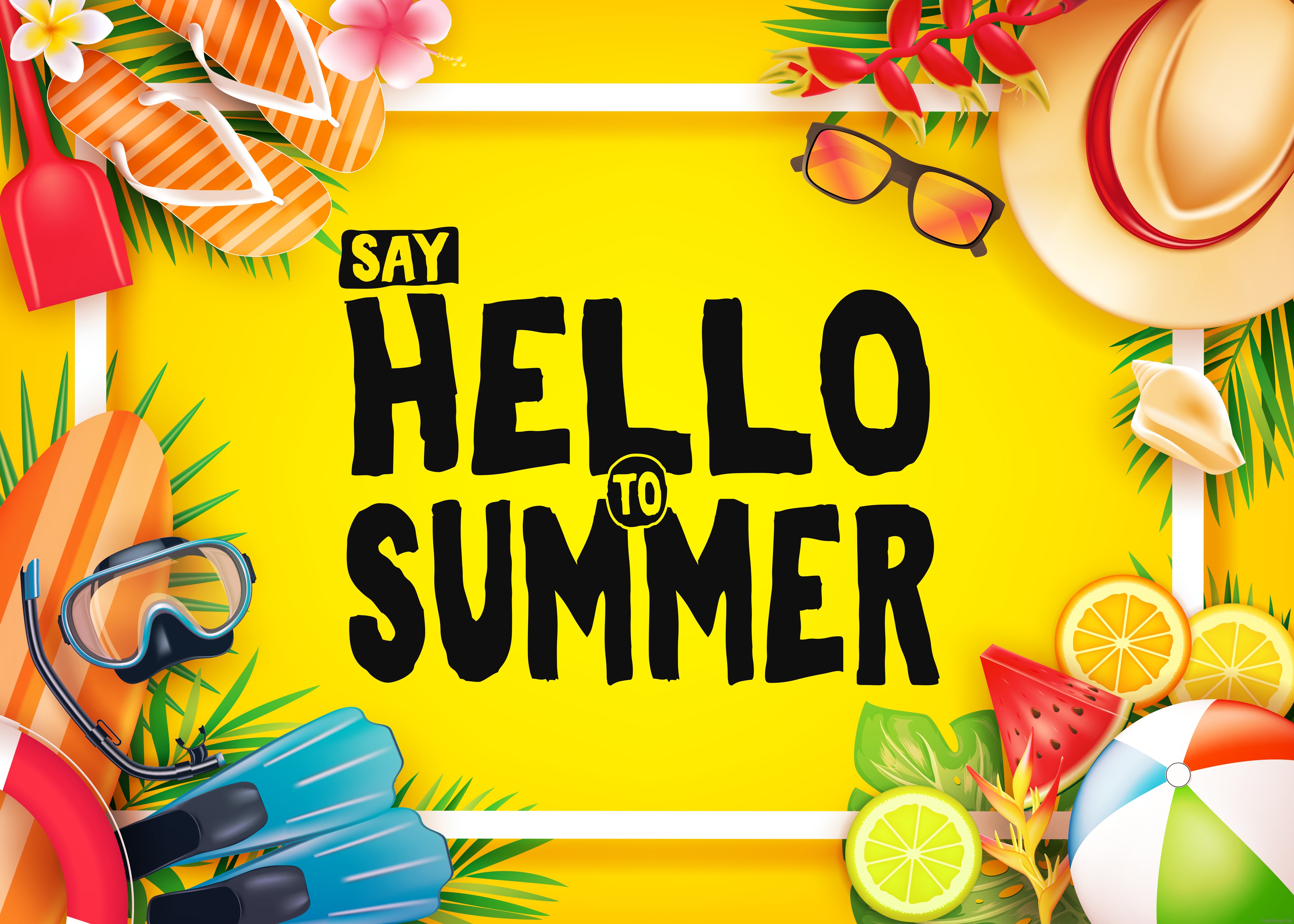 Happy Summer Holidays Background Vector: Happy Summer Holiday Travel Design Vector 02 Free Download