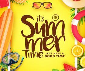 Happy summer holiday travel design vector 03