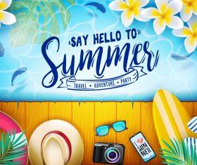 Happy summer holiday travel design vector 05