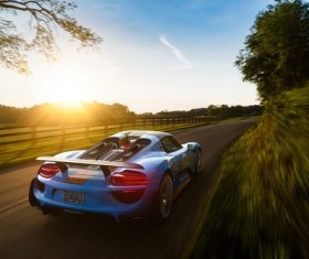 High-speed sports car Stock Photo
