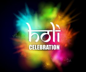 Holi festival celebration vector design 01