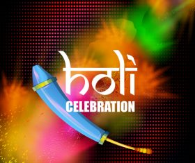 Holi festival celebration vector design 03