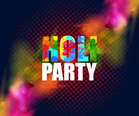Holi festival party background design vector 02