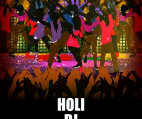 Holi festival party background design vector 03