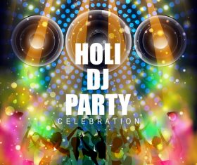 Holi festival party background design vector 04