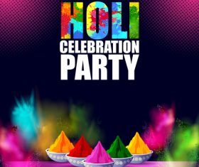 Holi festival party background design vector 05