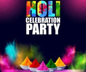 Holi festival party background design vector 05