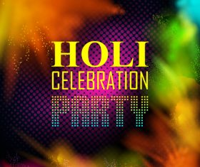 Holi festival party background design vector 06