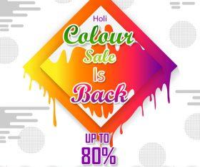 Holi festival sale discount poster template vectors 01