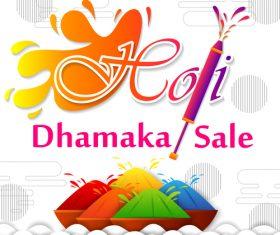 Holi festival sale discount poster template vectors 03