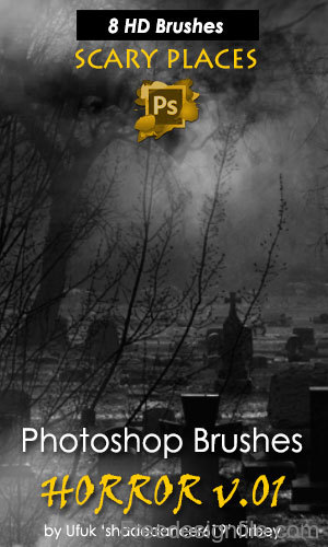 Horror Night HD Photoshop Brushes