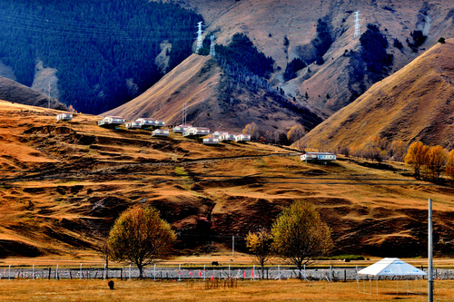 House on the hillside Stock Photo