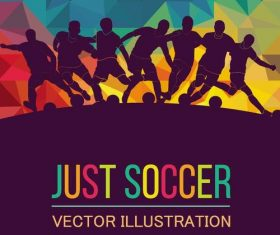 Just soccer vector illustration