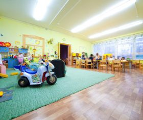 Kindergarten classroom Stock Photo