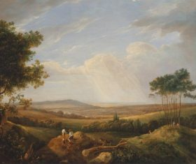 Landscape an oil painting Stock Photo 03