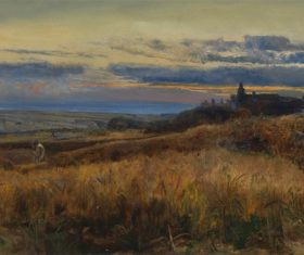 Landscape an oil painting Stock Photo 06