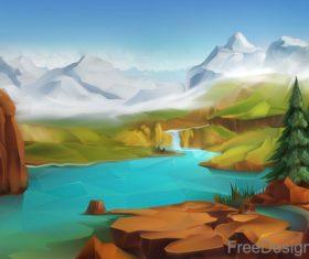 Landscape nature vector background