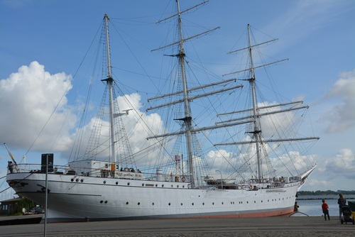 Large sailing ship Stock Photo