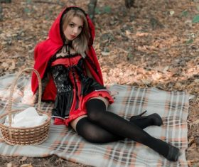 Little Red Riding Hood cosplay Stock Photo