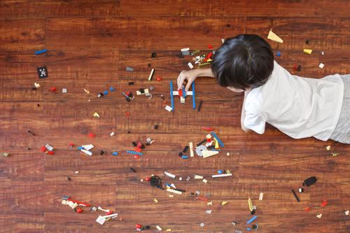 Little boy making toy plane Stock Photo 02