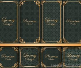 Luxury decor card vintage vector 01