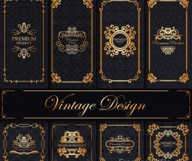 Luxury decor card vintage vector 02