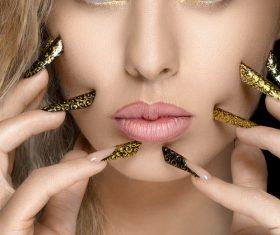 Makeup woman fashion manicure Stock Photo 01