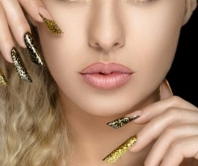 Makeup woman fashion manicure Stock Photo 02