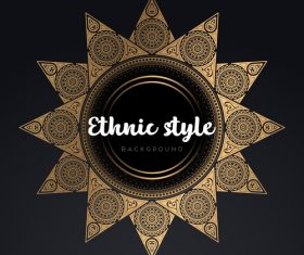 Mandala ethnic styles golden ornaments vector 03