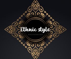 Mandala ethnic styles golden ornaments vector 04