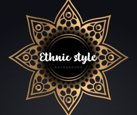 Mandala ethnic styles golden ornaments vector 08
