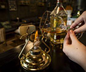 Modulating Irish coffee Stock Photo 03