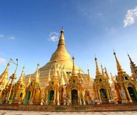 Myanmar Ruiguang Golden Pagoda Stock Photo