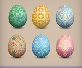 Ornate pattern with easter egg vector illustration