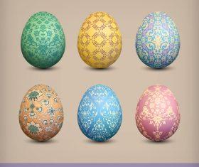 Ornate pattern with easter egg vector illustration