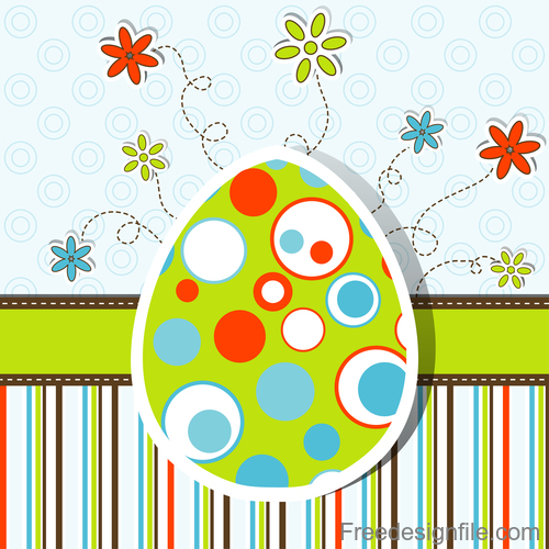 Paper easter card template vector 03