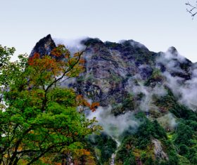 Picturesque natural mountain scenery Stock Photo