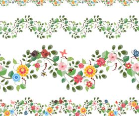 Plants border design vector