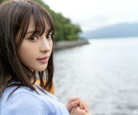 Pure and beautiful Japanese girl Stock Photo