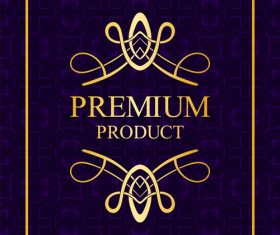 Purple Luxury decor card vintage vector 01