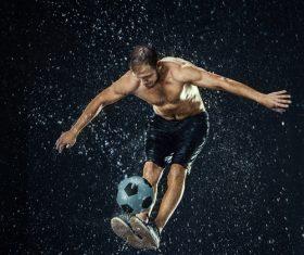 Rain football show Stock Photo 03