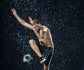 Rain football show Stock Photo 05