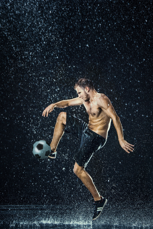 Rain football show Stock Photo 06